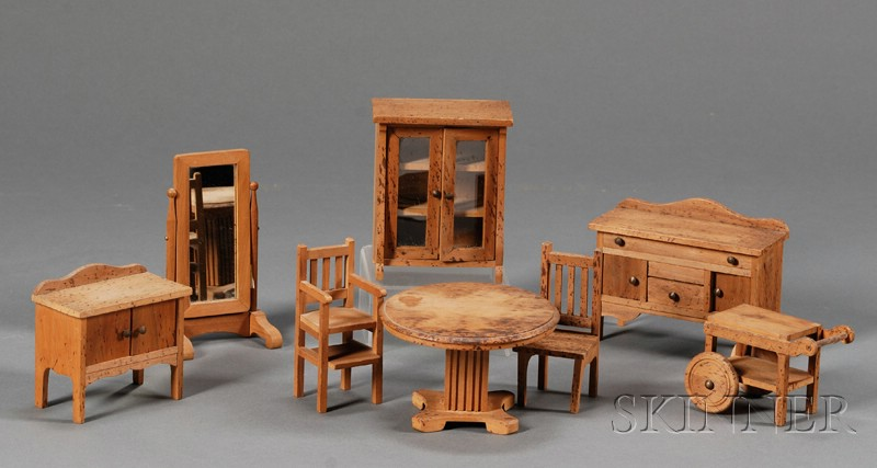 Bliss Type Adirondack Style Dollhouse And Arts U0026 Crafts Wooden Dollhouse  Furniture