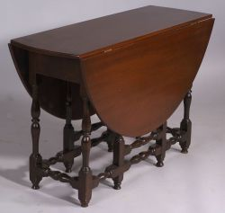 William and Mary Maple Gateleg Table