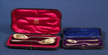 Two English Cased Flatware Sets