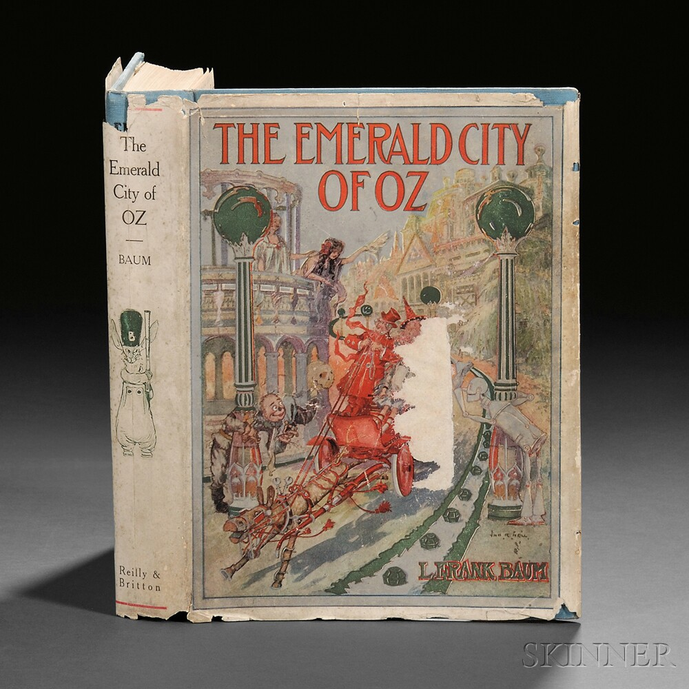 [Wizard of Oz] L. Frank Baum (1856-1919) The Emerald City of Oz.
