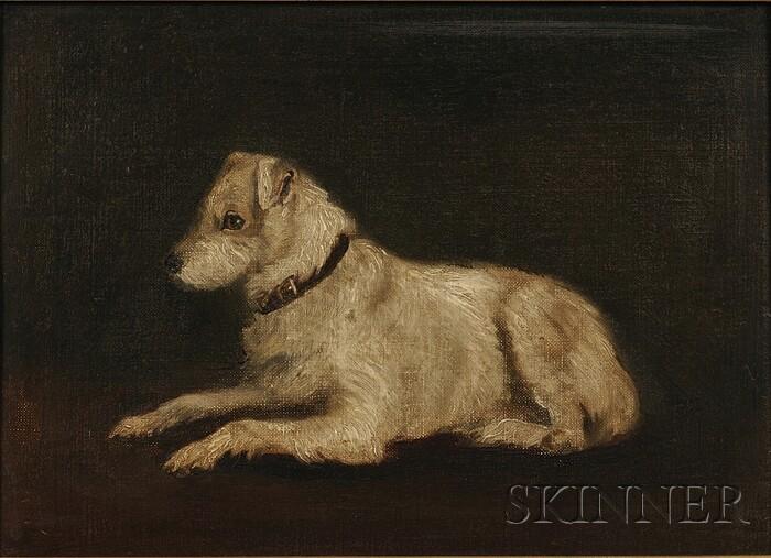 British School, 19th/20th Century      Resting Terrier