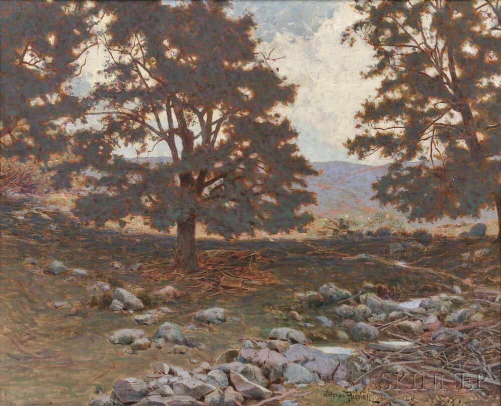 Stephen Maxfield Parrish (American, 1846-1938)      The Rocky Grove, Cornish