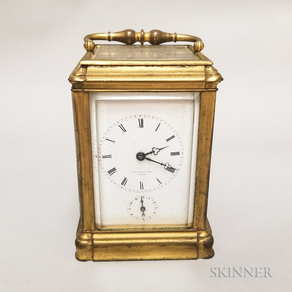 Lincoln and Foss Alarm Carriage Clock