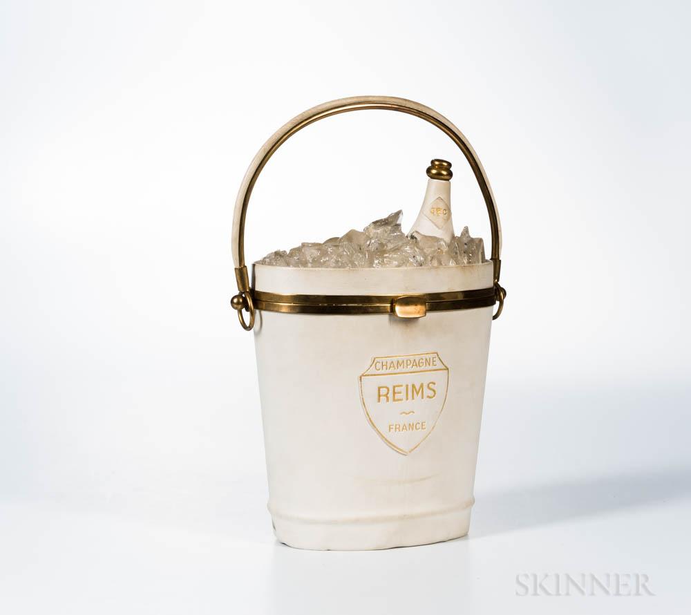 Anne-Marie White Champagne Bucket Handbag