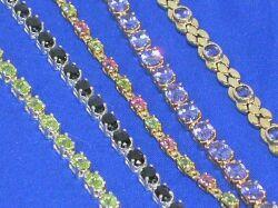Five Gem-set Bracelets