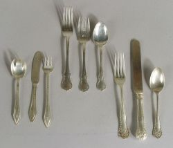Three Partial Sterling Flatware Services