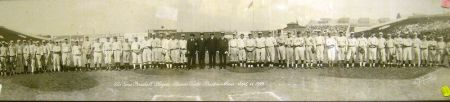 Large Scale Black and White Photograph of the Boston Braves Baseball Club, 1922