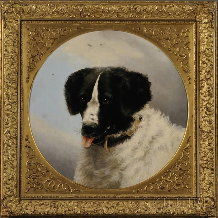 Attributed to Miss Anne Cathrow (British, 19th Century)      Portrait of a Dog, After Edwin Henry Landseer (British, 1802-1873)