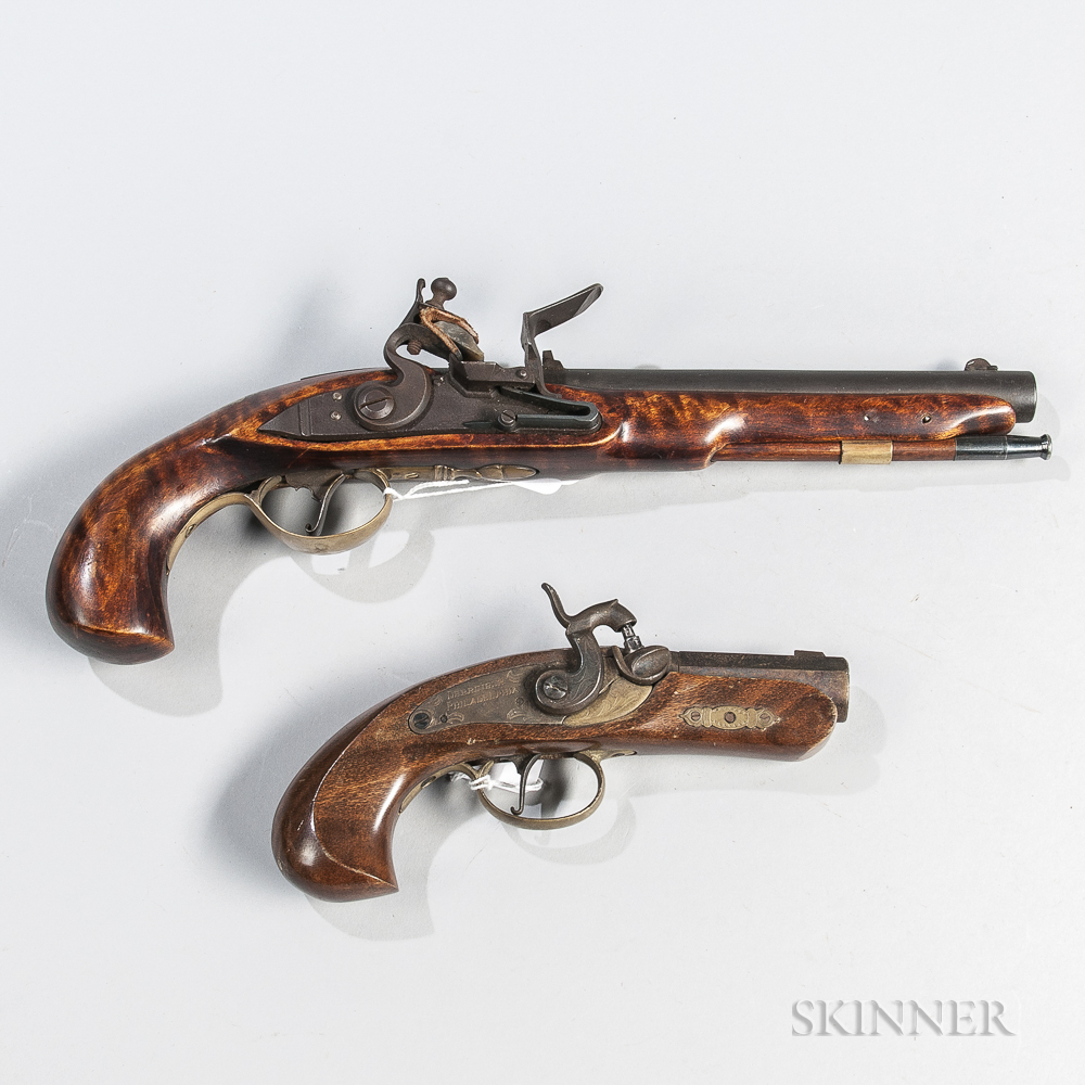 Two Reproduction Black Powder Pistols