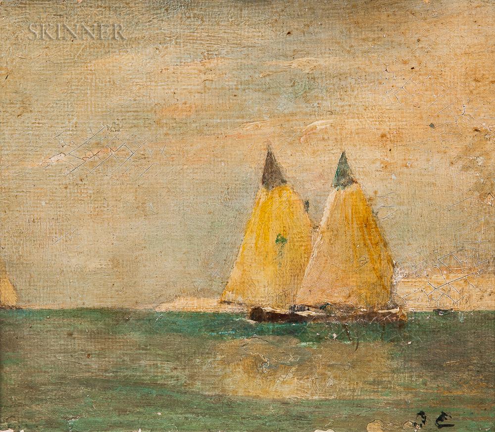 Attributed to Emil Carlsen (Danish/American, 1853-1932)    Sailing