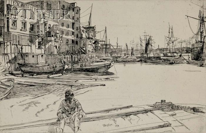 James Abbott McNeill Whistler (American, 1834-1903)      Eagle Wharf