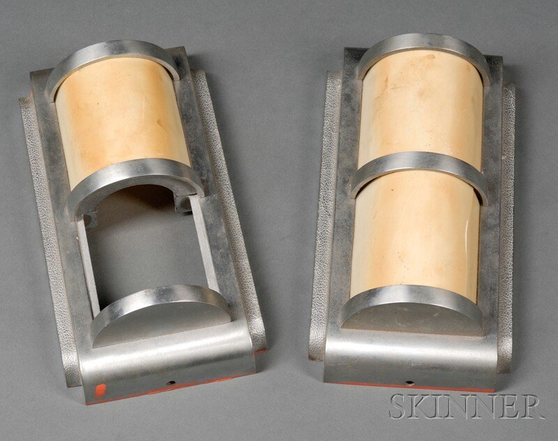 Two Art Deco Wall Sconces