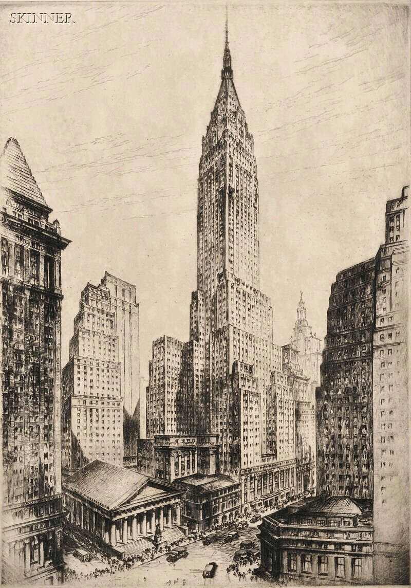 Anton Schutz (German/American, 1894-1977)      Bank of Manhattan Trust Company Building.