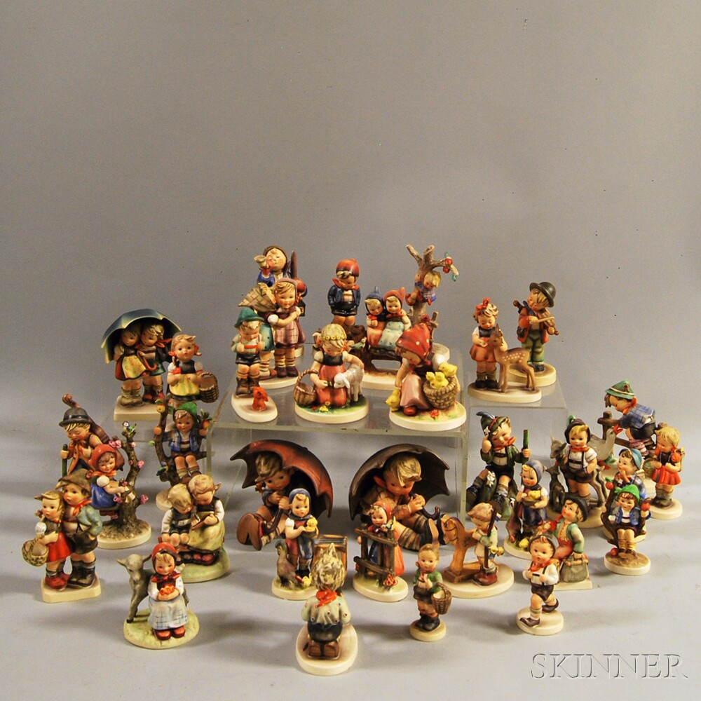 Large Collection of Hummel/Goebel Ceramic Figurines and Figural Groups