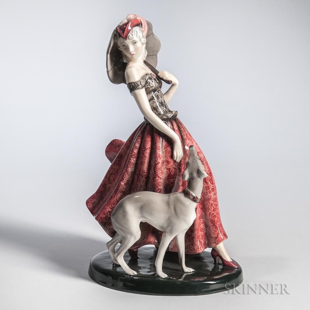 Goldschneider Art Deco Figurine