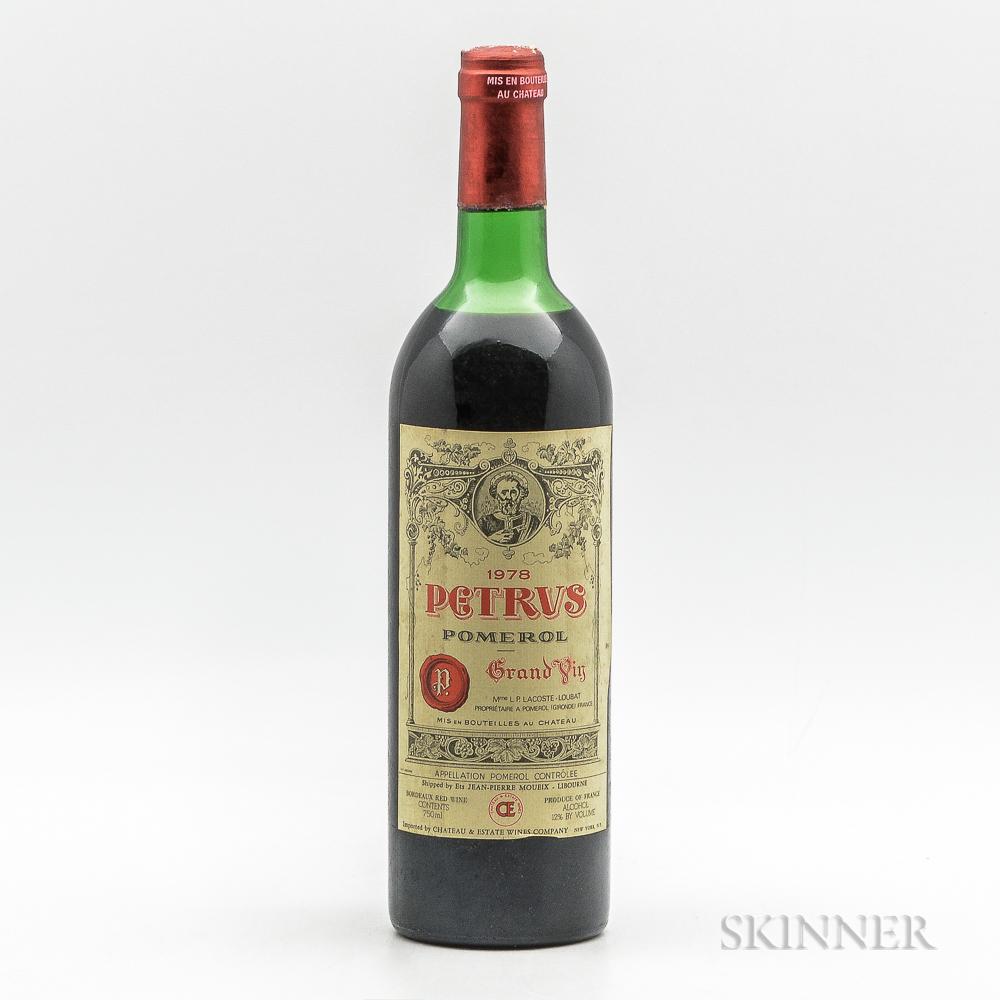 Chateau Petrus 1978, 1 bottle