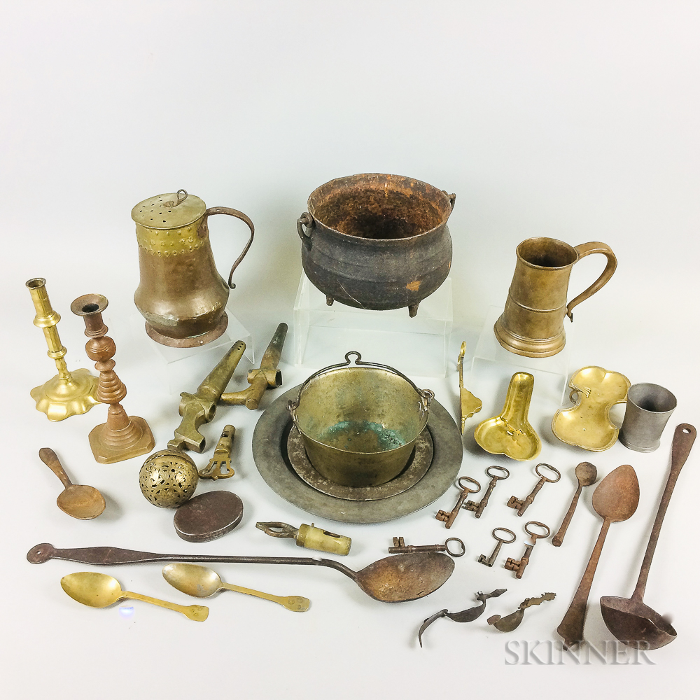 Group of Early Domestic Metalware