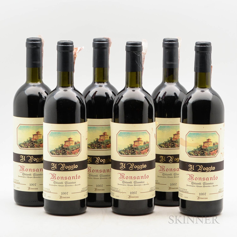 Castello di Monsanto Chianti Classico Il Poggio 1997, 6 bottles