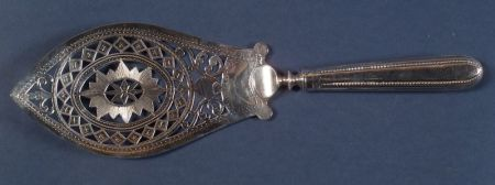George III Hester Bateman Silver Fish Slice
