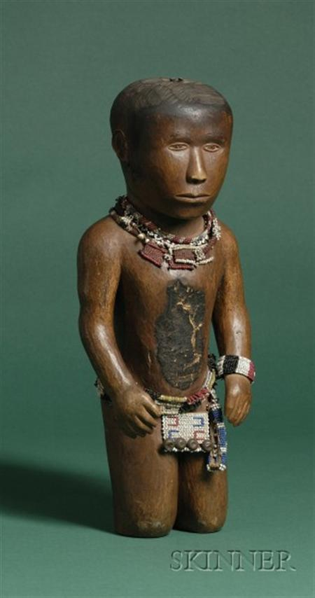 Rare South African Carved Wood Male Figure