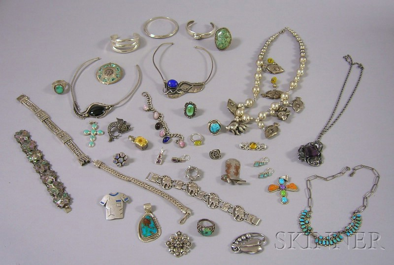 Assorted Group of Sterling Silver Jewelry