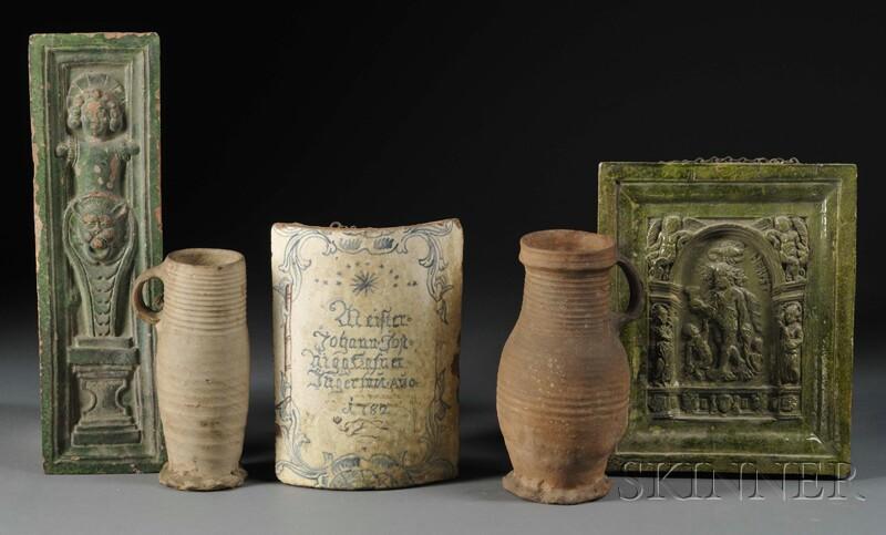 Five Pieces of German Stoneware