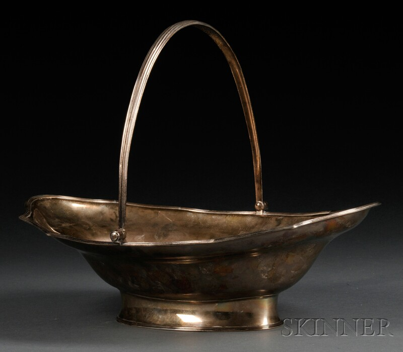 George III Silver Basket with Handle