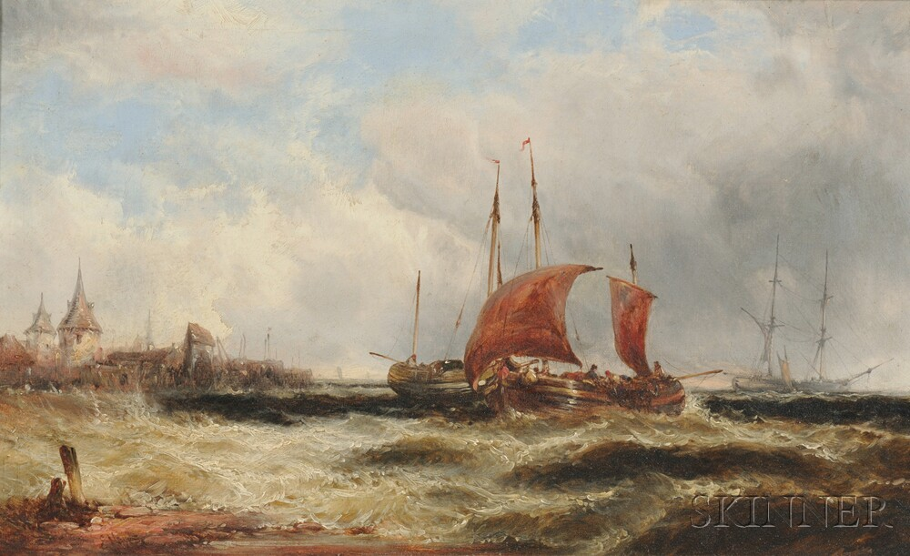 Edwin Hayes (English, 1820-1904)      Off the Scheldt