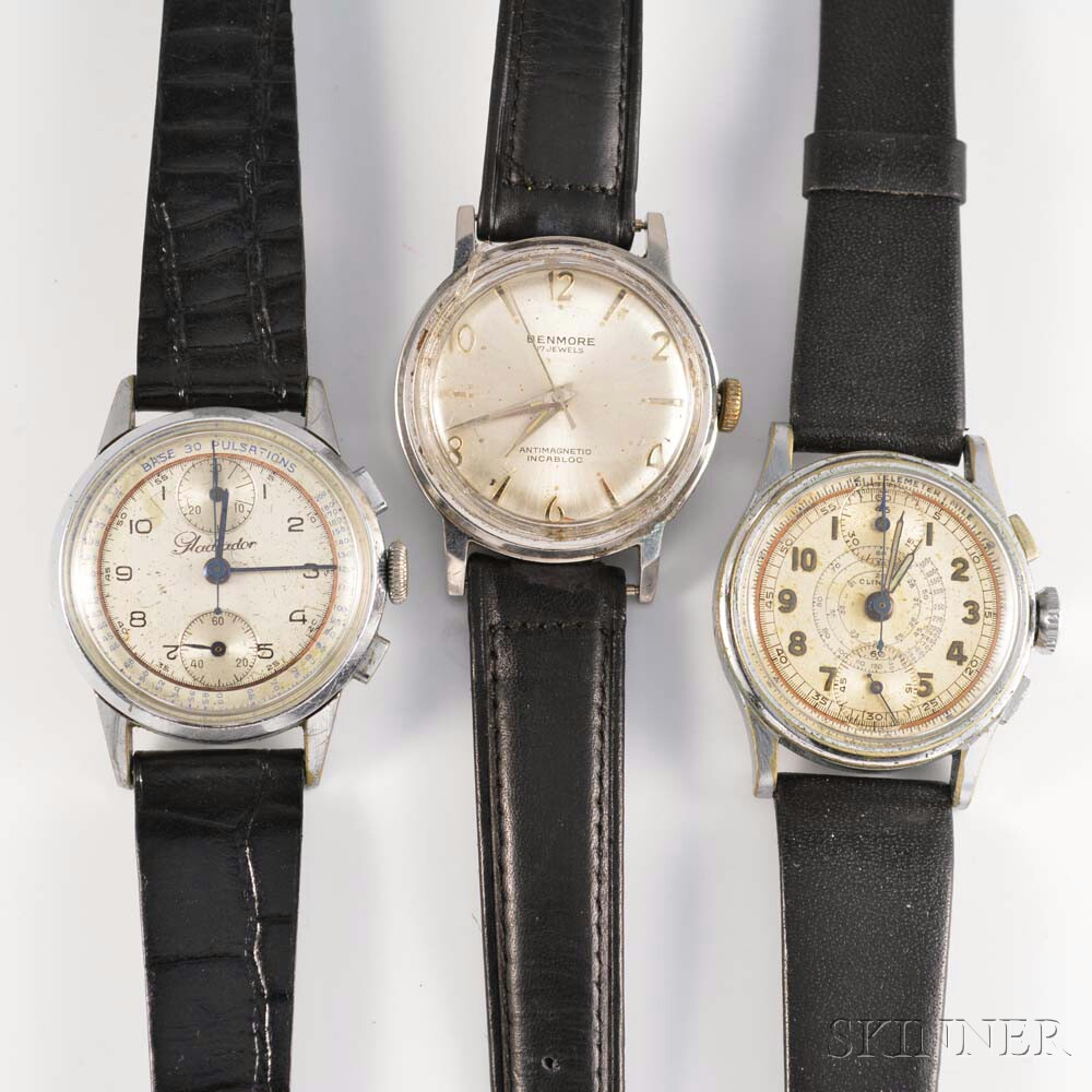 Three Vintage Manual-wind Wristwatches