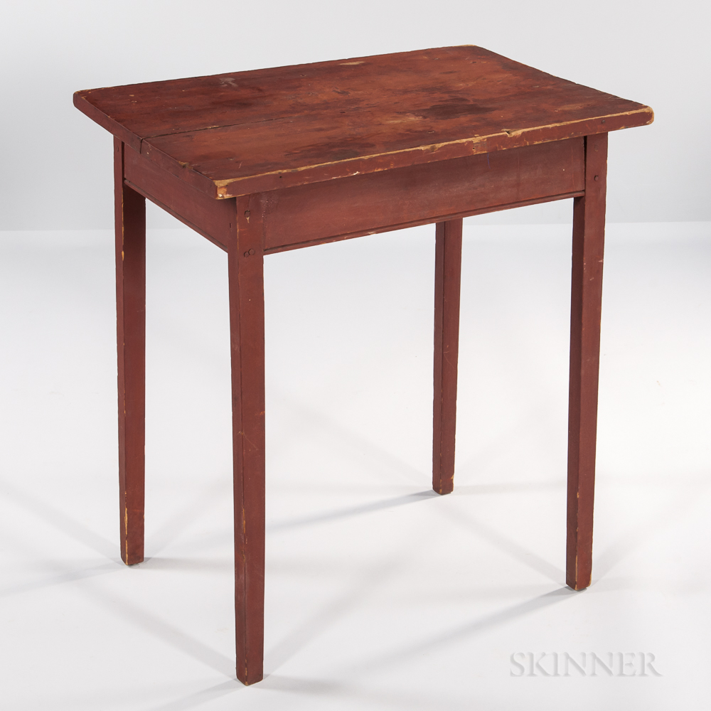 Red-painted Maple Table