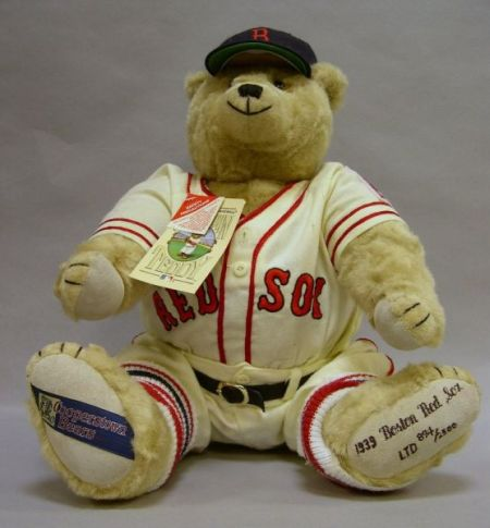 """Collector's """"1939 Boston Red Sox Cooperstown Teddy"""" Bear"""