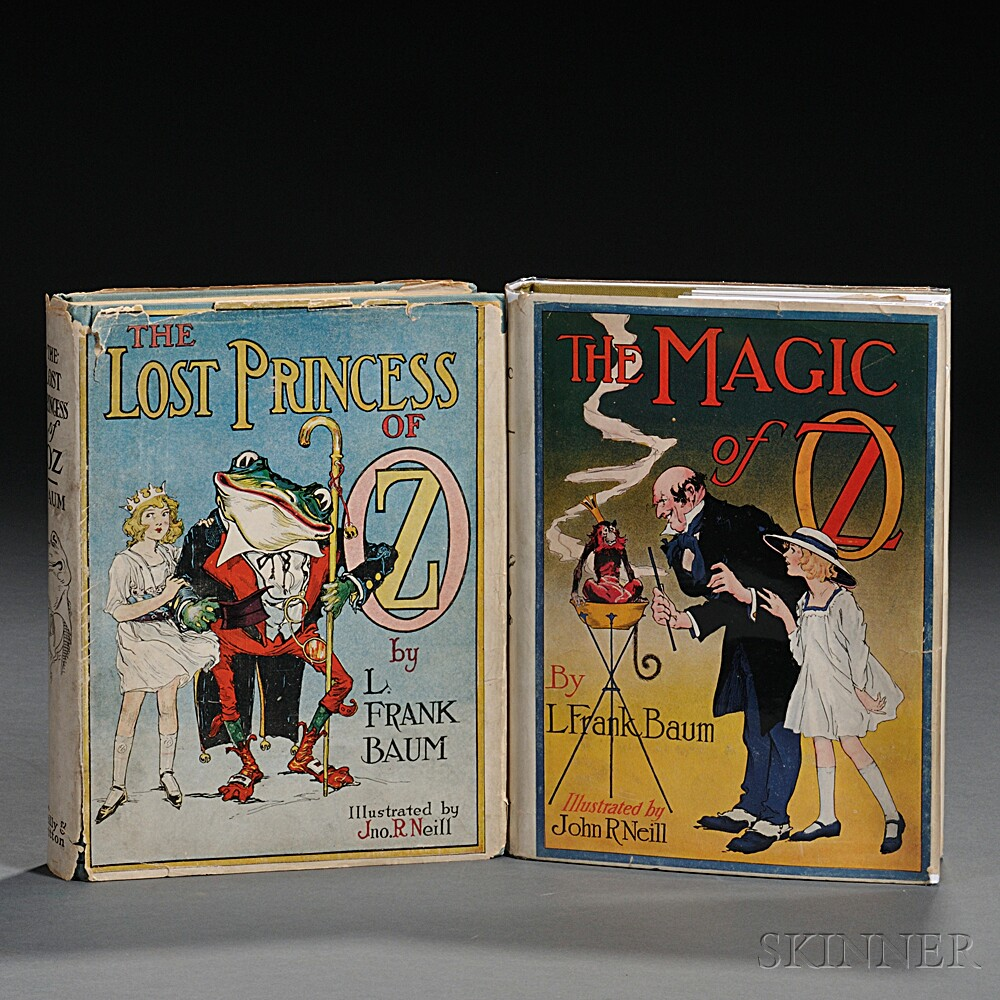 [Wizard of Oz] L. Frank Baum (1856-1919) Two Titles in Dust Jackets.