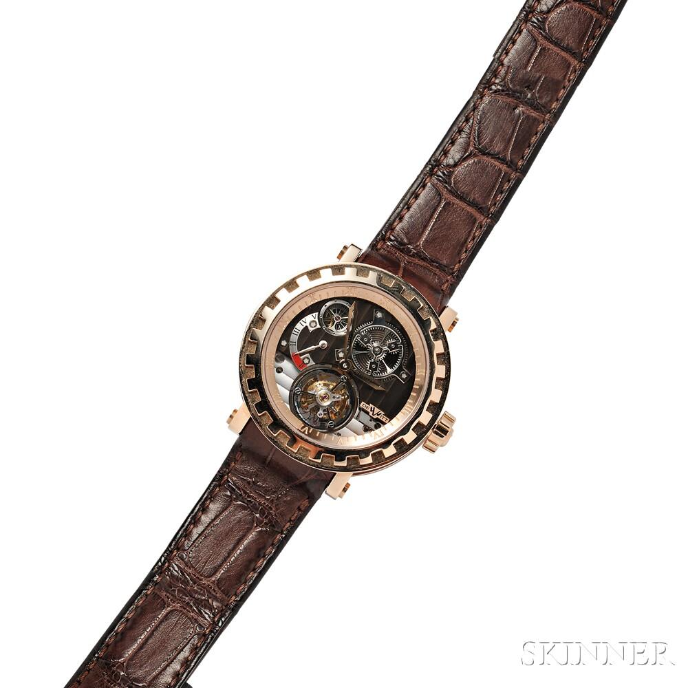 Gentleman's 18kt Gold Academia Tourbillon Differentiel Wristwatch, DeWitt
