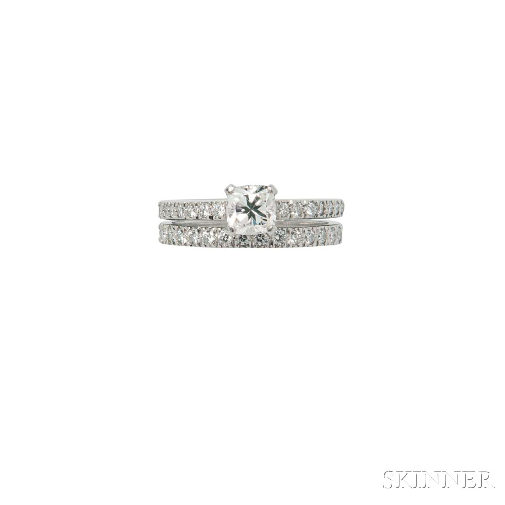 Platinum and Diamond Ring and Band, Tiffany & Co.