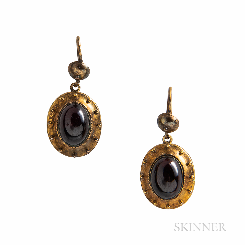 Victorian Gold and Garnet Earrings