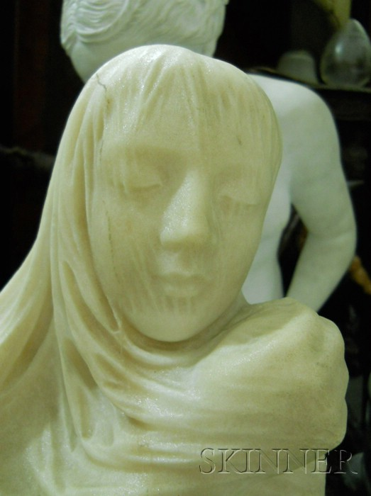 Edmonia Lewis (American, 1845-1911)       Large Marble Figure of an Allegorical Maiden, Spring