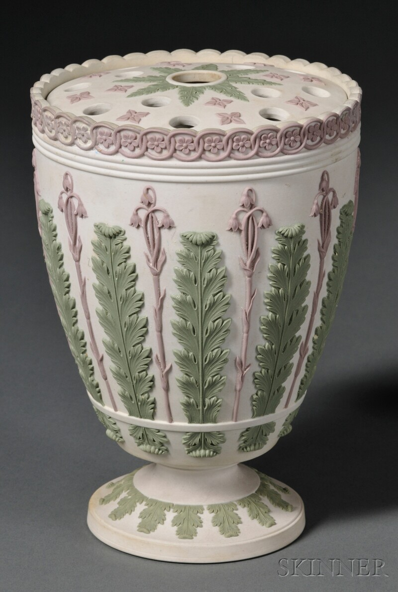 Wedgwood Three-color Jasper Bough Pot and Cover