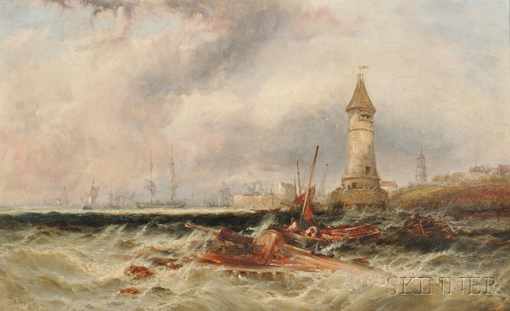 Edwin Hayes (English, 1820-1904)      Mouth of the Scheldt