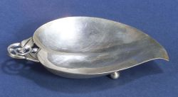Small Arts and Crafts-style Tiffany & Co. Sterling Leaf Dish