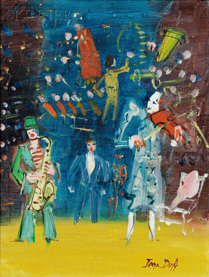 Jean Dufy  (French, 1888-1964)      Clowns musiciens