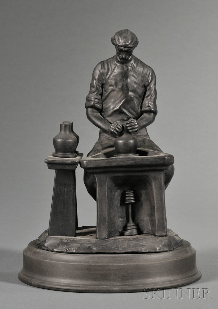 "Wedgwood Black Basalt ""Skills of the Nation"" Series Figure"