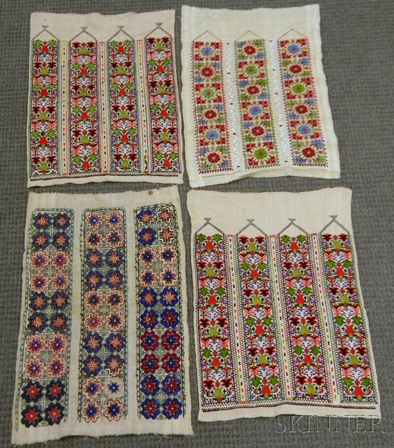 Four Small Greek Island Embroideries