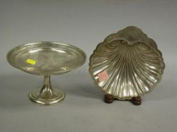 Pair Gorham Sterling Weighted Compotes and a Shell-form Dish