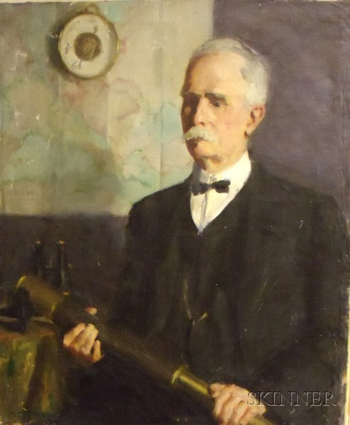 Unframed Oil on Canvas Portrait of a Gentleman by Marguerite Stuber   Pearson (American, 1898-1978)