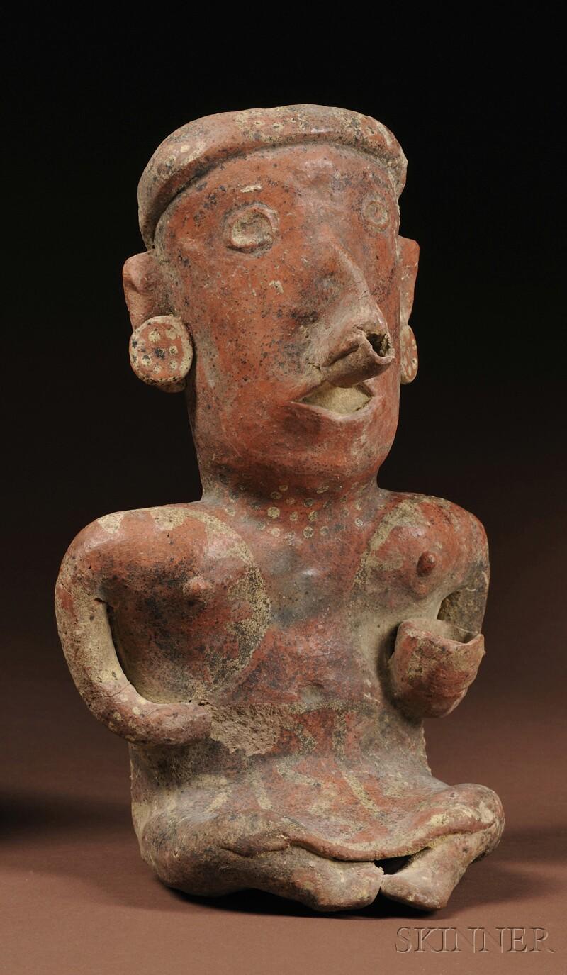 Nayarit Painted Female Pottery Figure