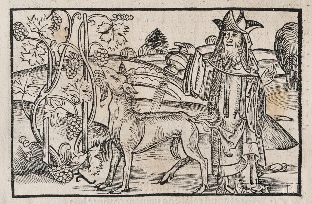 Aesop (c. 620-564 BC) Appologi sive Mythologi cum quibusdam Carminum et Fabularum additionibus Sebastiani Brant