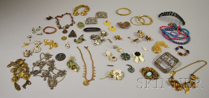 Large Group of Vintage and Costume Jewelry