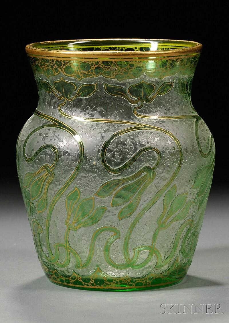 Honesdale Art Nouveau Cameo Glass Vase
