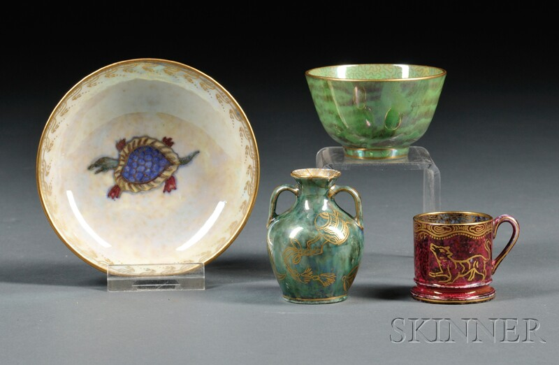 Four Small Wedgwood Lustre Items