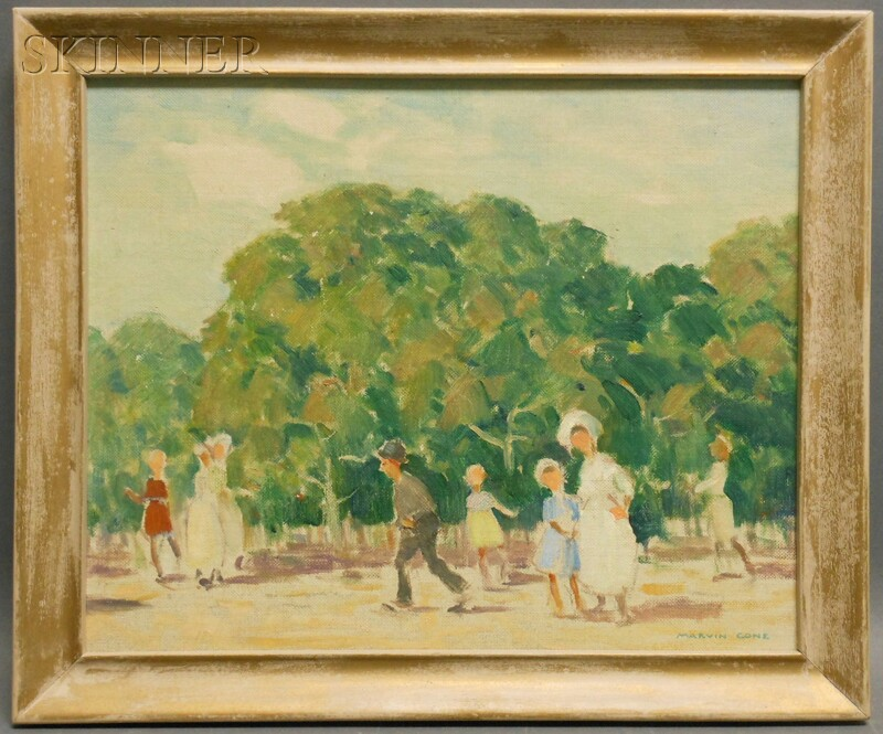Marvin Cone (American, 1891-1964)      In a Paris Park